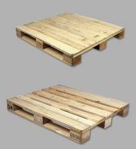 Four-way industrial pallets